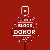Vector Illustration of Blood Donation.
