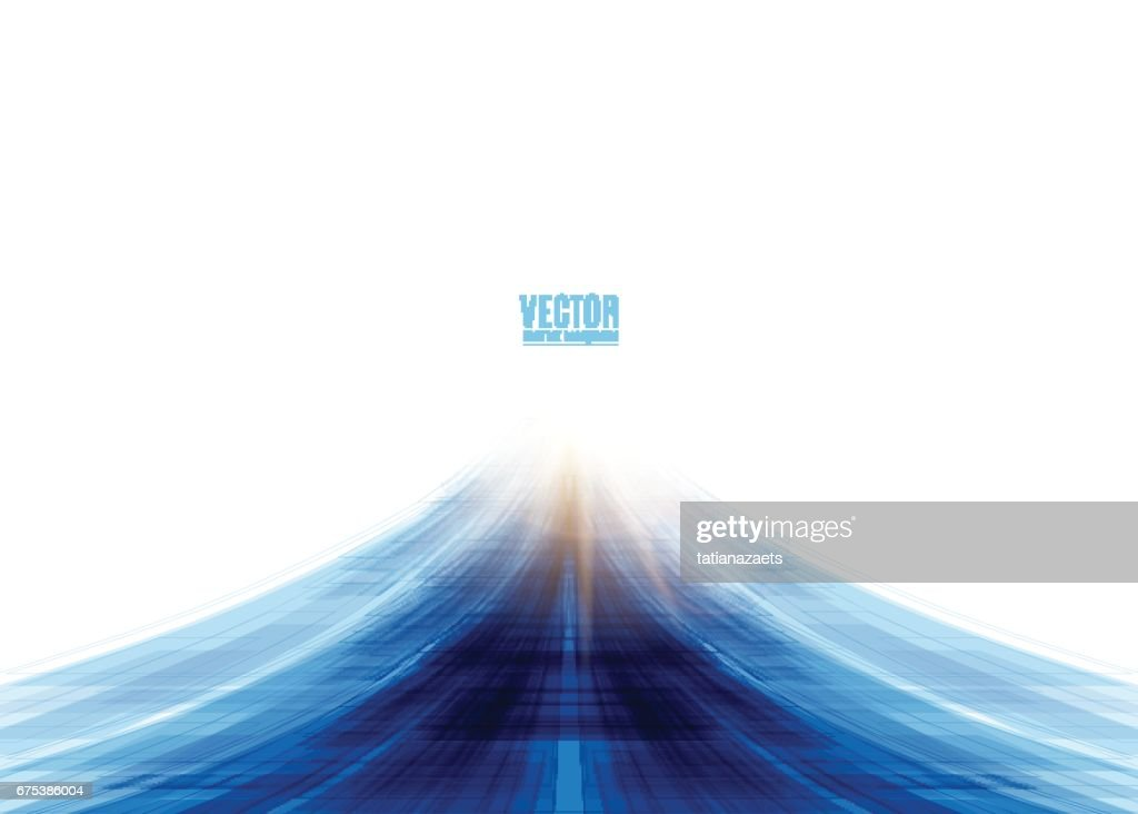 Vector illustration of blue road abstract background