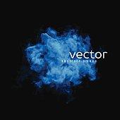 Vector illustration of blue smoke