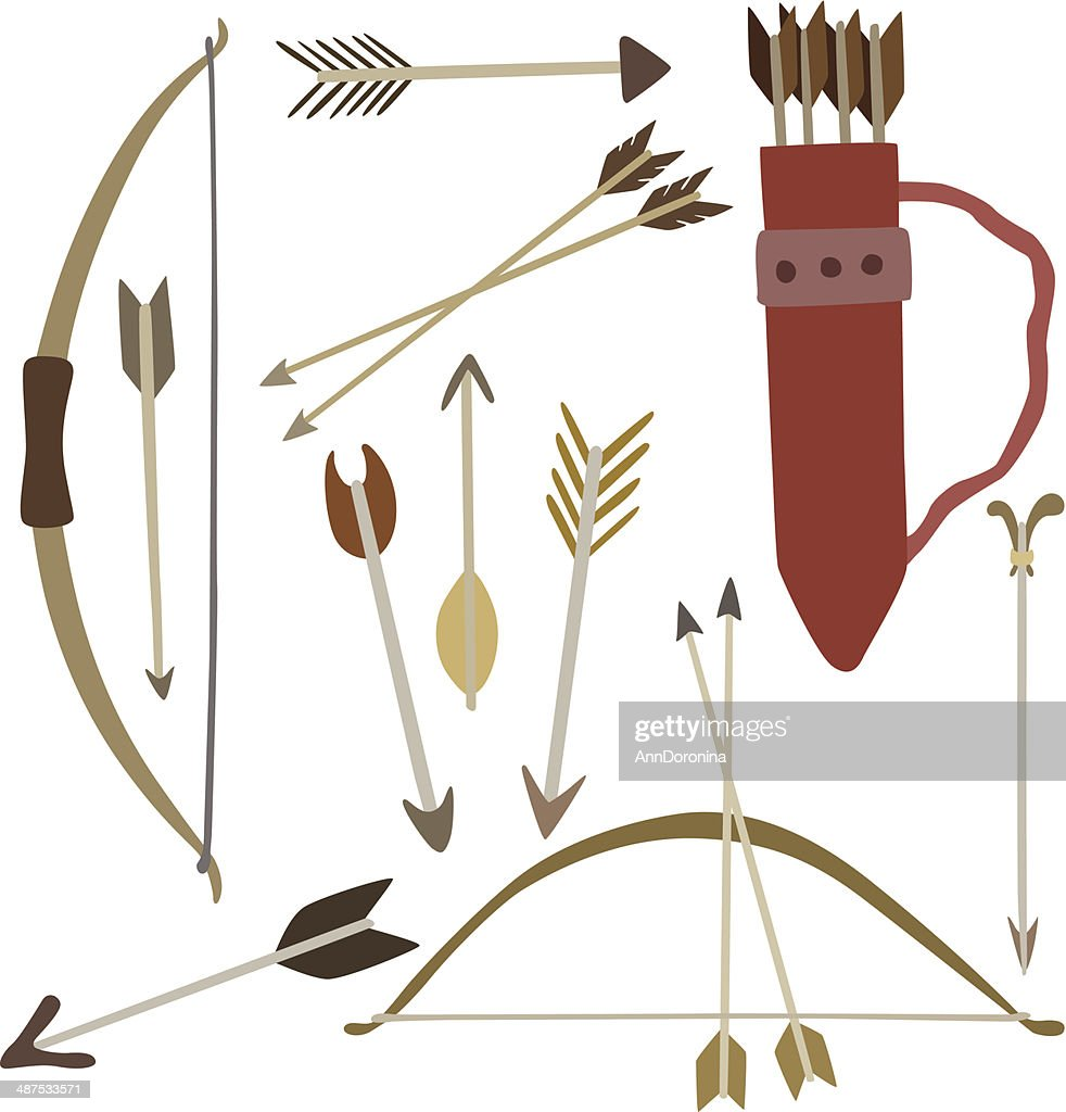 vector illustration of bow and arrows