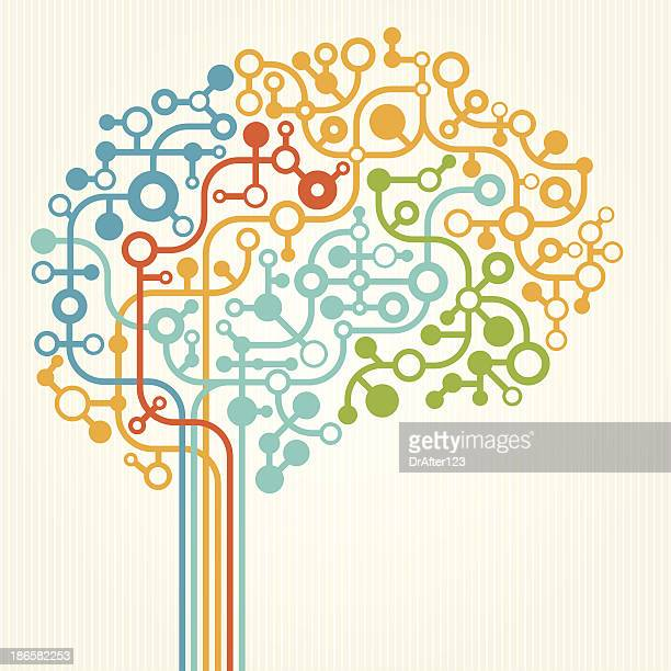 vector illustration of brain concept - human brain stock illustrations