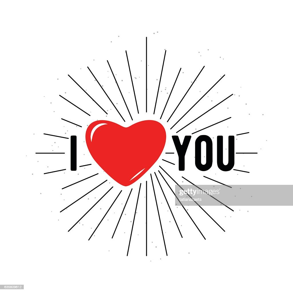 Vector illustration of card for Valentines day I love you