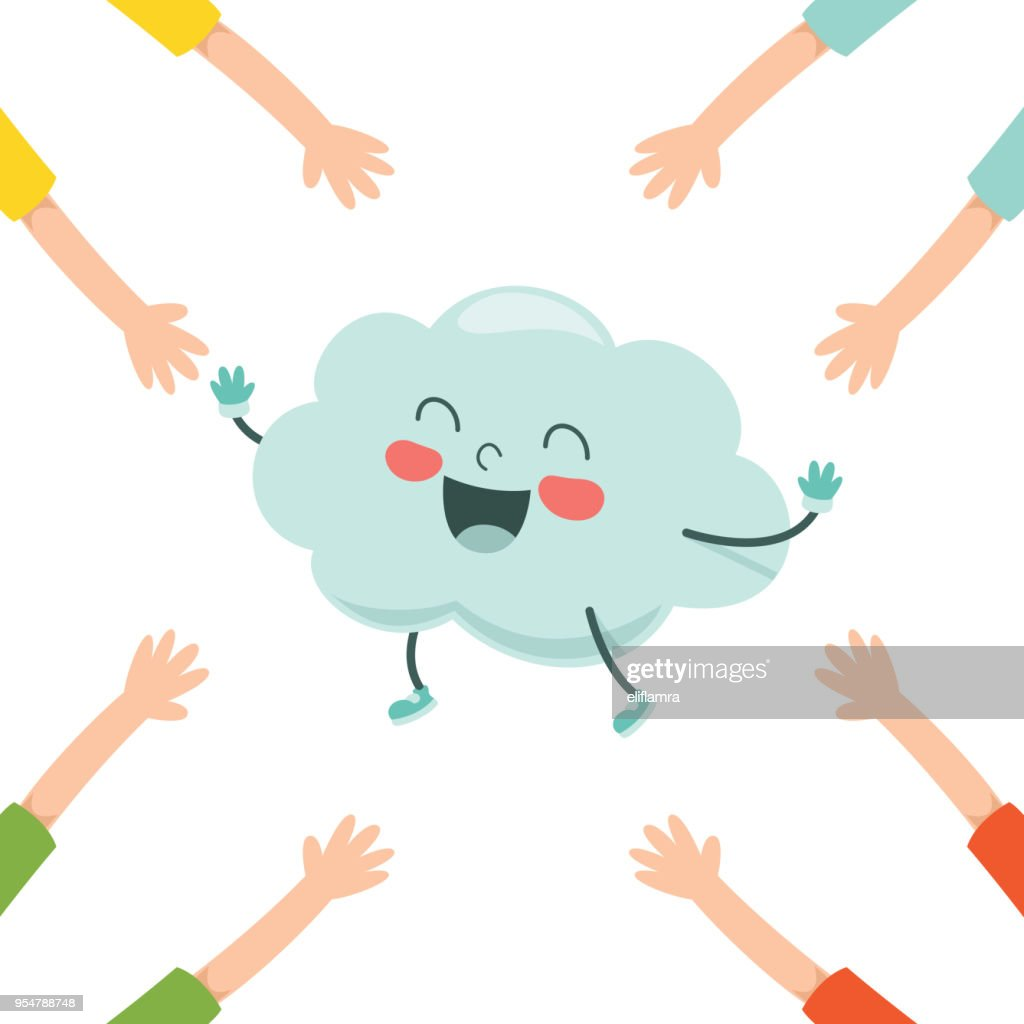 Vector Illustration Of Cartoon Cloud