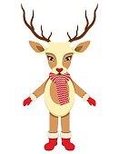 Vector illustration of Christmas Deer
