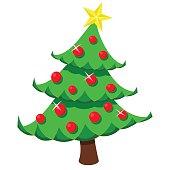 Vector illustration of Christmas tree