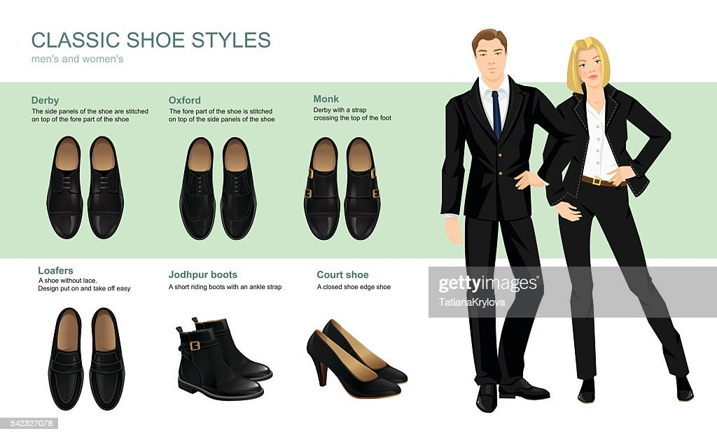 Vector illustration of classic shoes style.