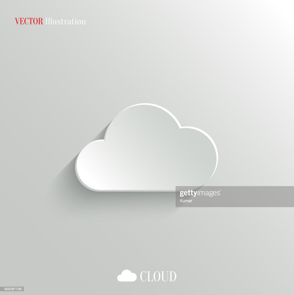 Vector illustration of cloud icon on white