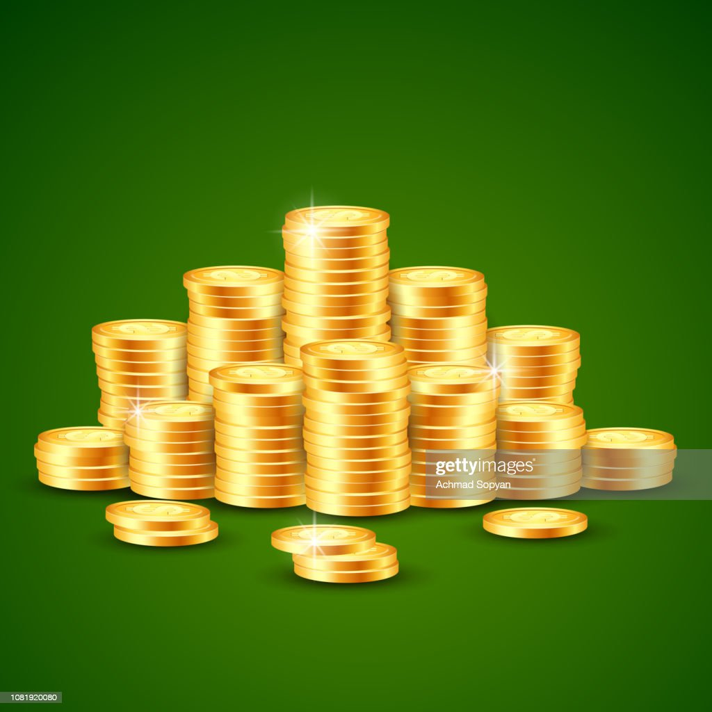 vector illustration of coin background
