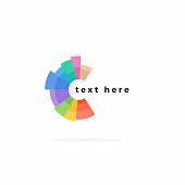 Vector Illustration of Color Wheel Circle Purple Pink Green Yellow Blue Brown 2