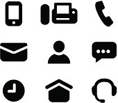 Vector illustration of communication icons