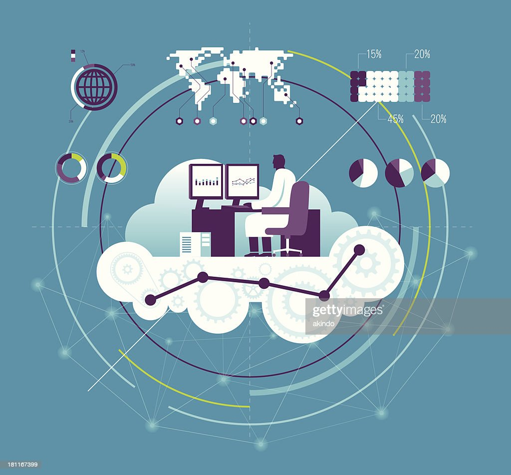 Vector illustration of computing concept : stock illustration