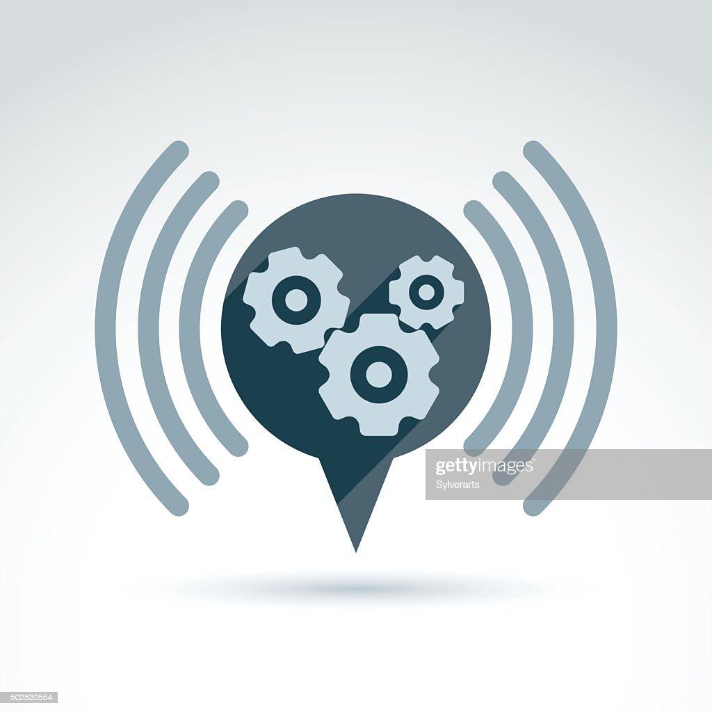 Vector illustration of conversation on organization system theme