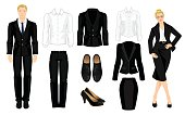 Vector illustration of corporate dress code.