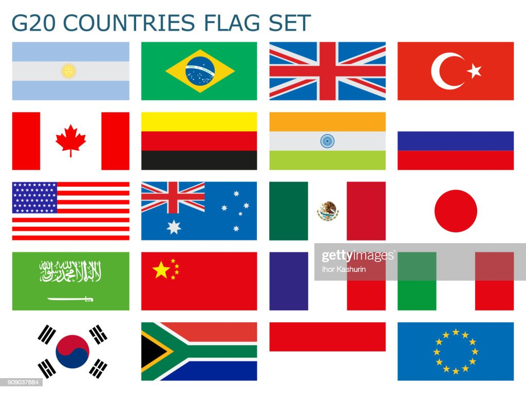 A vector illustration of Countries flags in a simple easy way to grab them all.