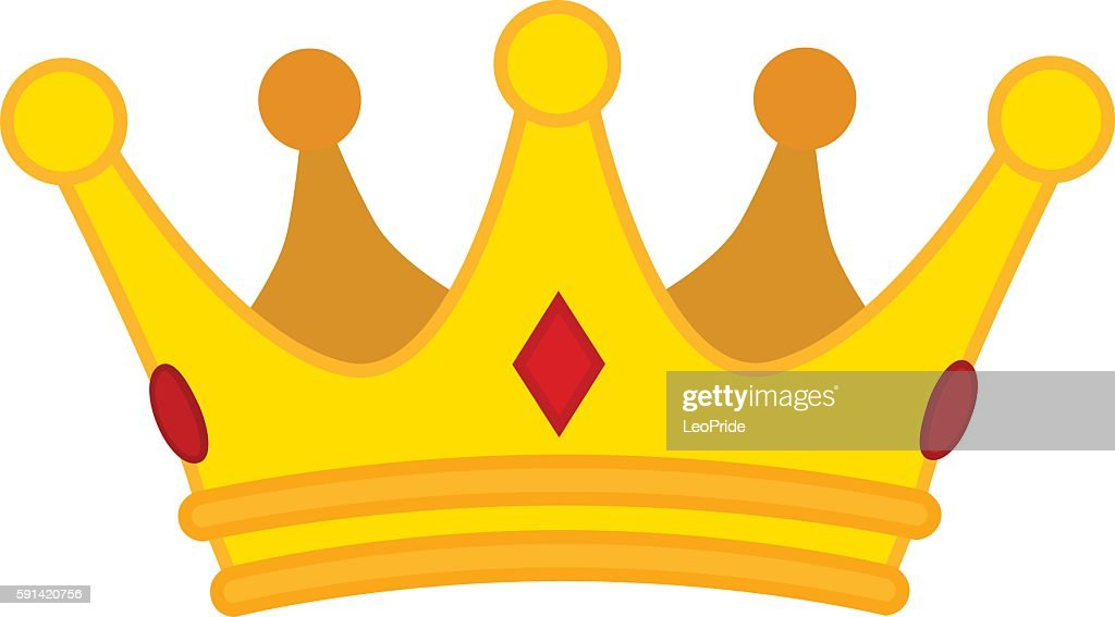 Vector illustration of crown. Made in trendy flat style.
