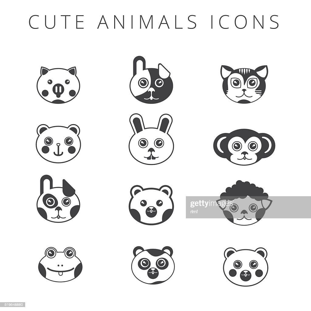 Vector illustration of cute babies animals