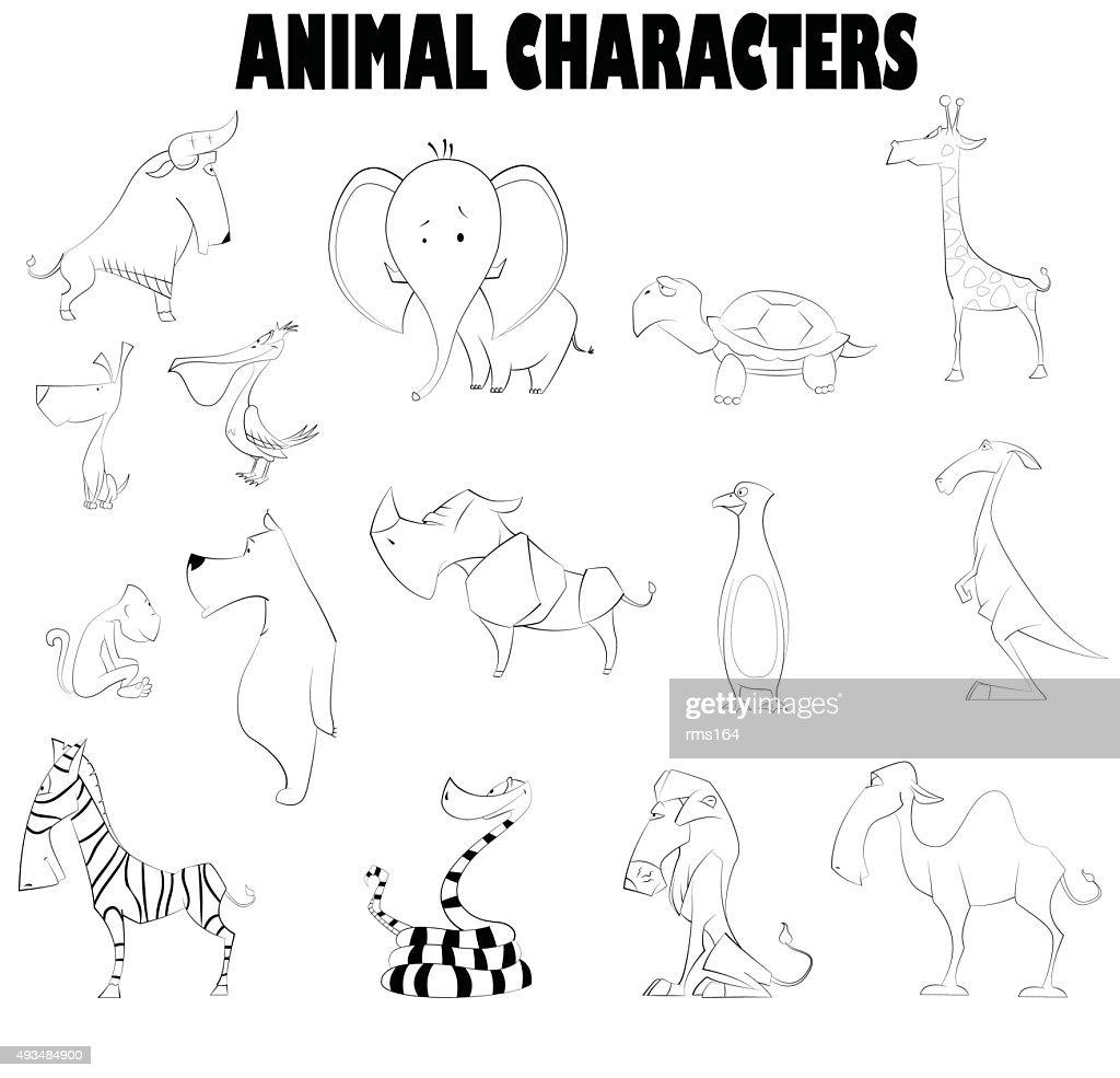 Vector illustration of cute cartoons