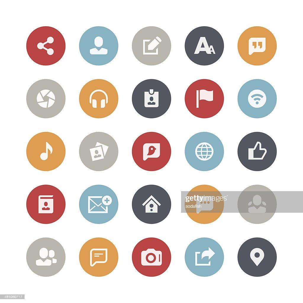 Vector illustration of digital media icons