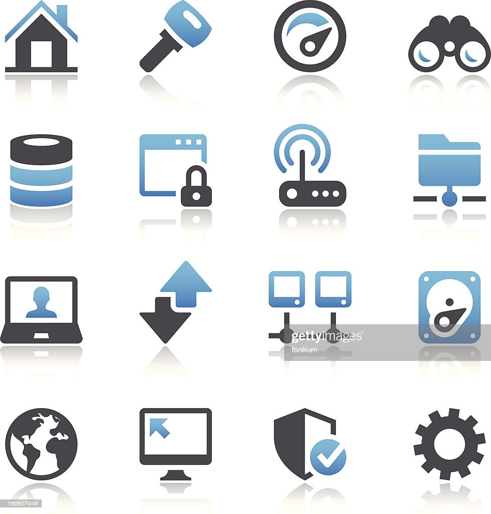 Vector Illustration Of Digital Systems Icons Vector Art