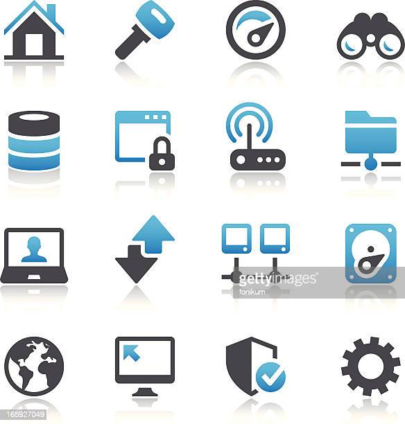 Vector illustration of digital systems icons
