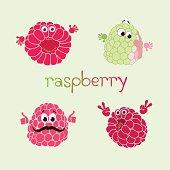 Vector illustration of doodle raspberry.