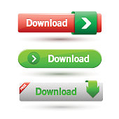 Vector illustration of download buttons.
