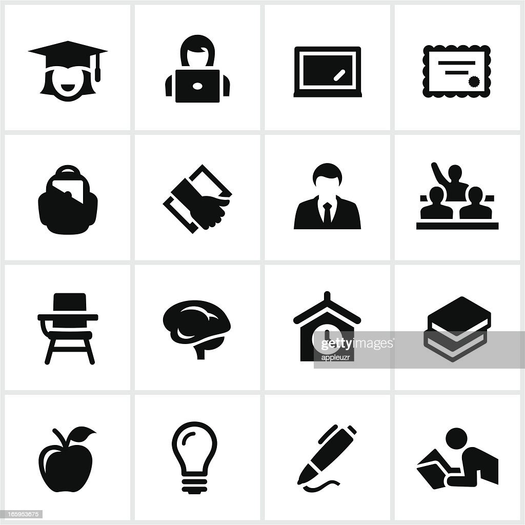 Vector illustration of education icon set