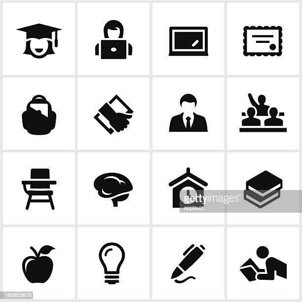 Vector illustration of education icon set