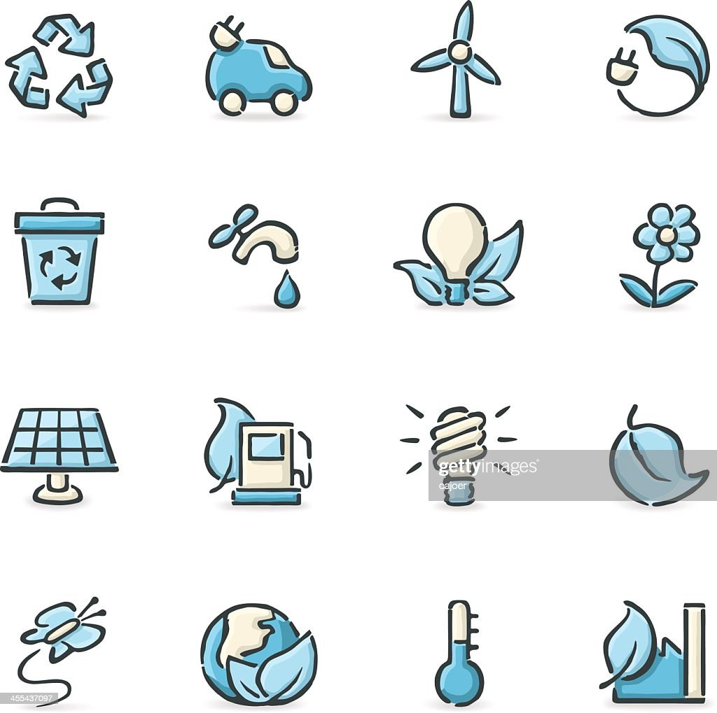 Vector illustration of environmental icons