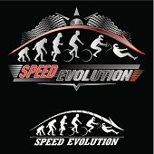 Vector illustration of evolution of speed concept