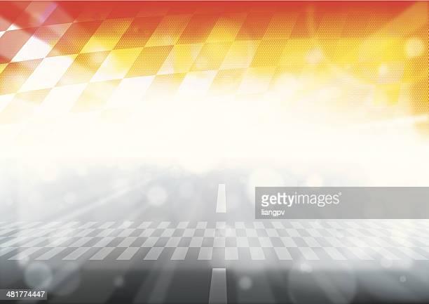 vector illustration of f1 racing - grand prix motor racing stock illustrations
