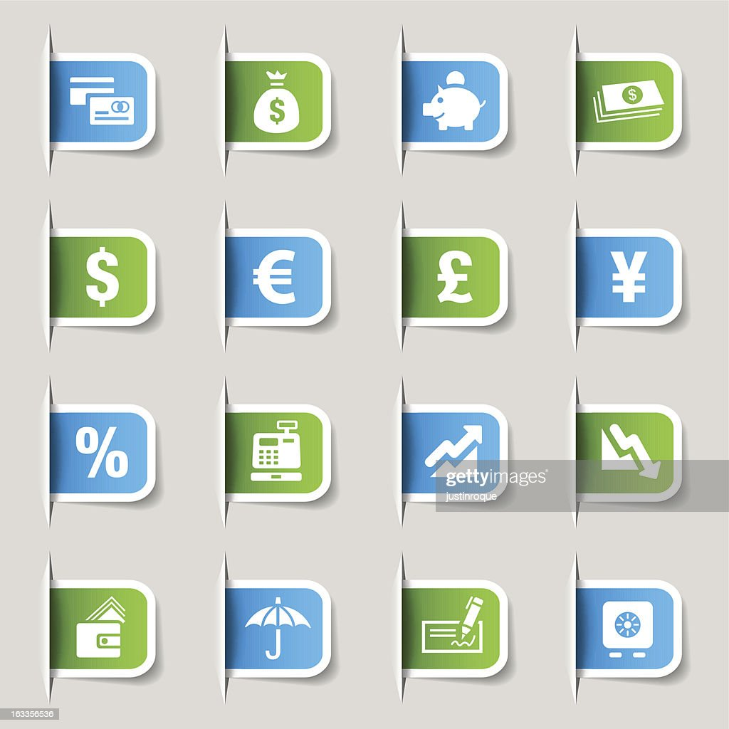Vector illustration of finance icons