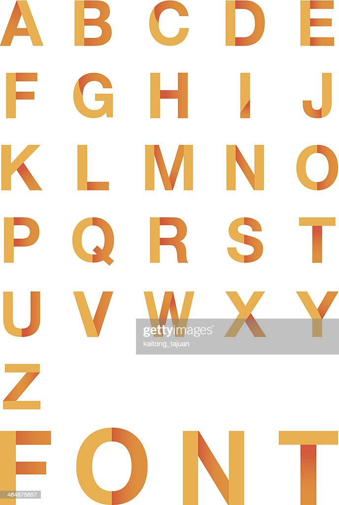 Vector illustration of  Font type