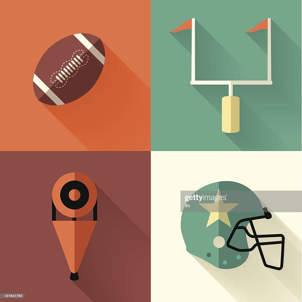 ベクトルイラストのフットボールシンボル : ストックイラストレーション
