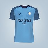 Vector illustration of football t-shirt template