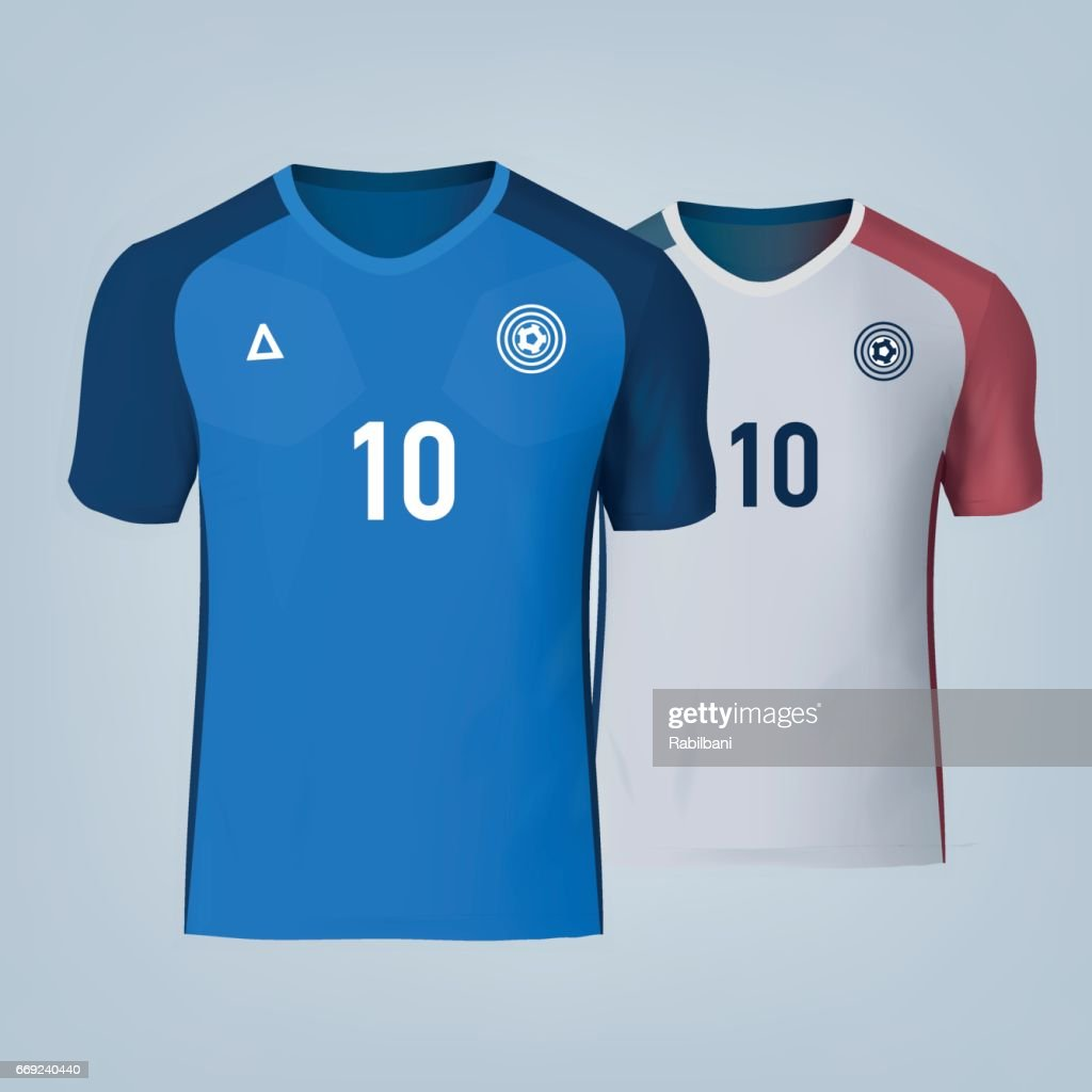 Vector illustration of football t-shirt template