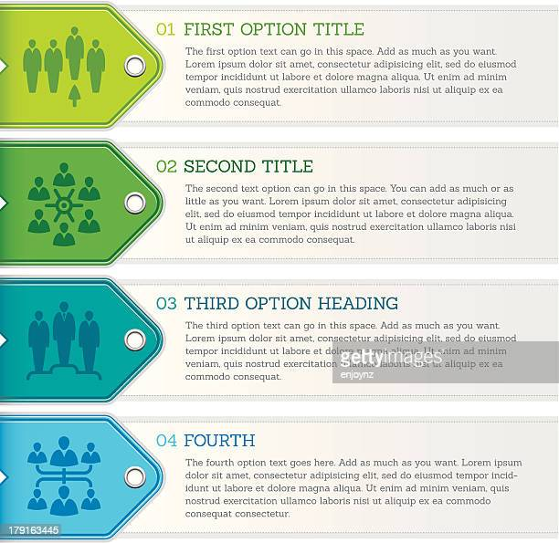 vector illustration of four-stage infographic - four objects stock illustrations