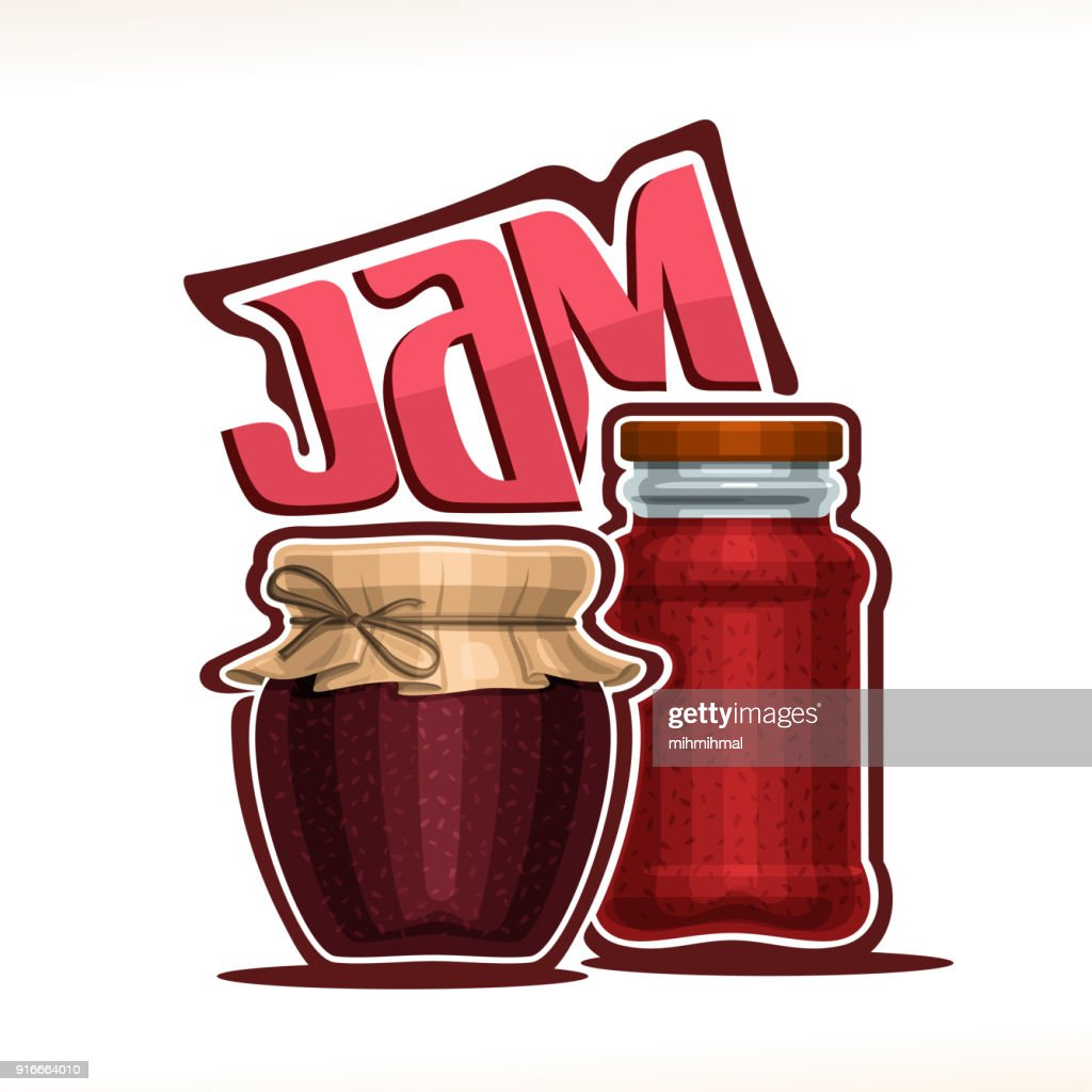 Vector illustration of fruit Jam