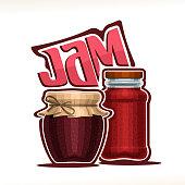 Vector illustration of fruit Jam