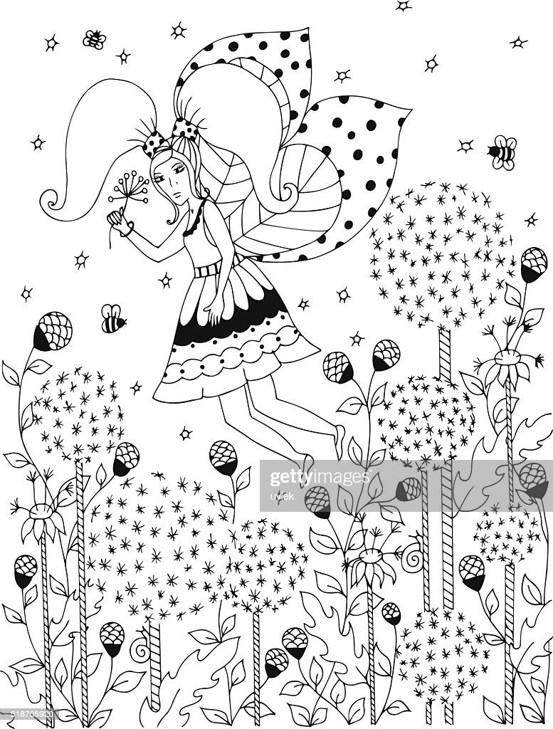 Vector illustration of girl riding on a swing. Wood