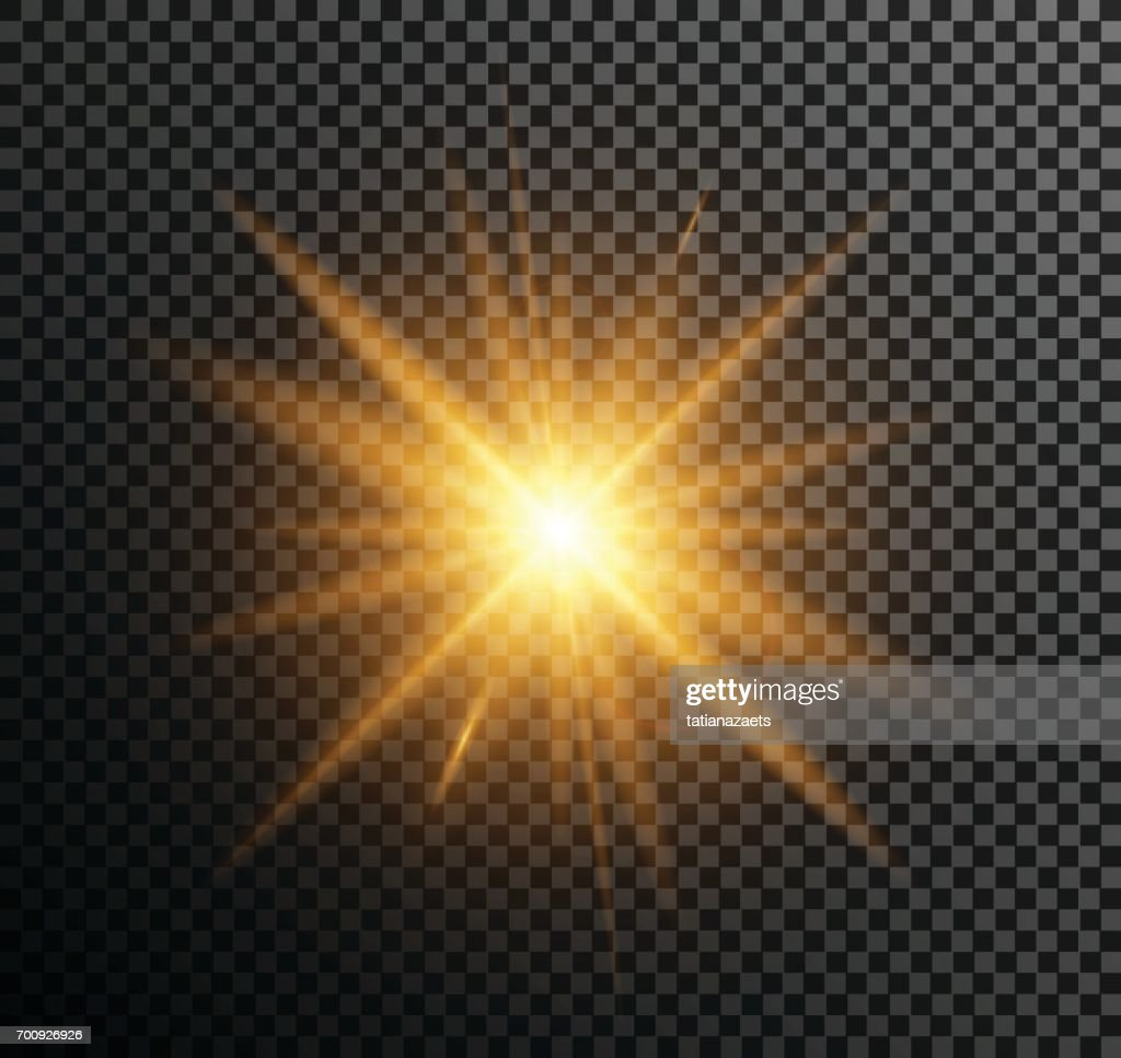 Vector illustration of golden light
