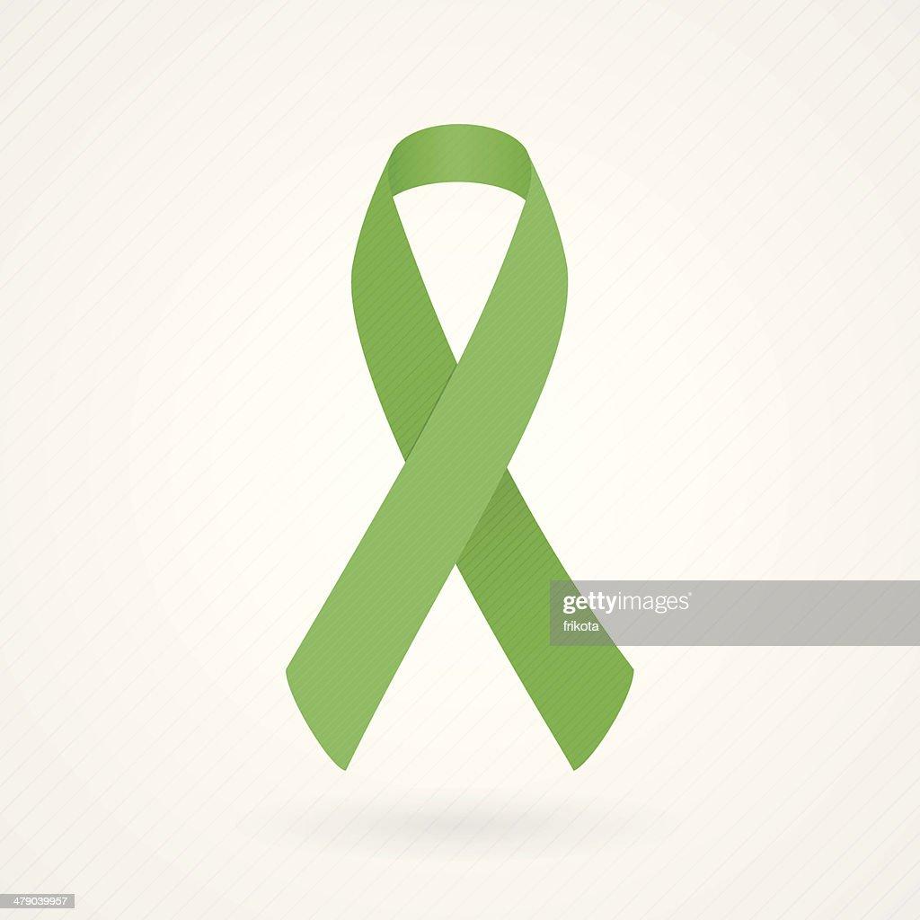 Vector illustration of green awareness ribbon