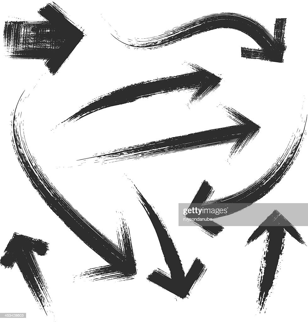 Vector illustration of grunge arrows