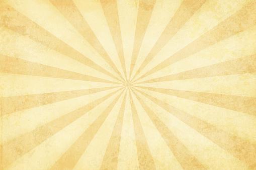 Vector illustration of grunge light brown sunburst - gettyimageskorea
