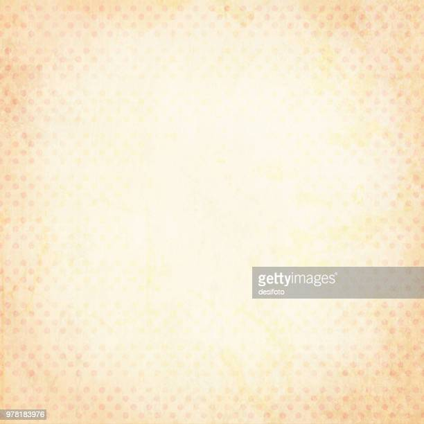 vector illustration of grunge pale pink and yellowish polka dotted background - tradition stock illustrations