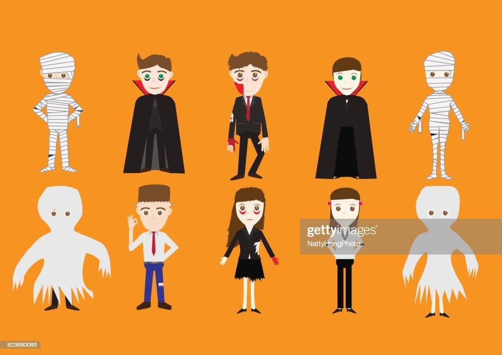 vector illustration of Halloween costume