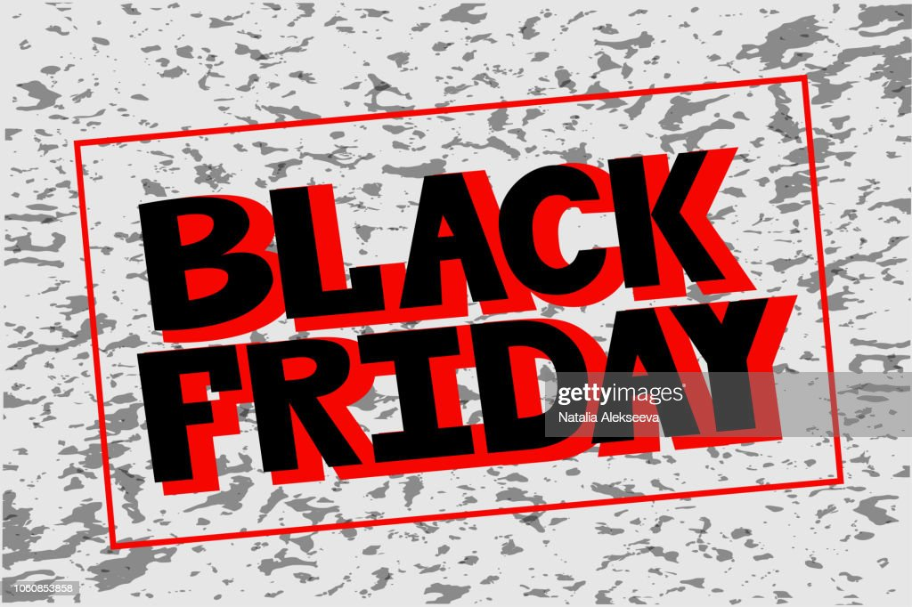 Vector illustration of hand drawn lettering of text Black Friday