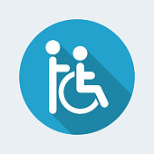 Vector illustration of handicap assistance icon