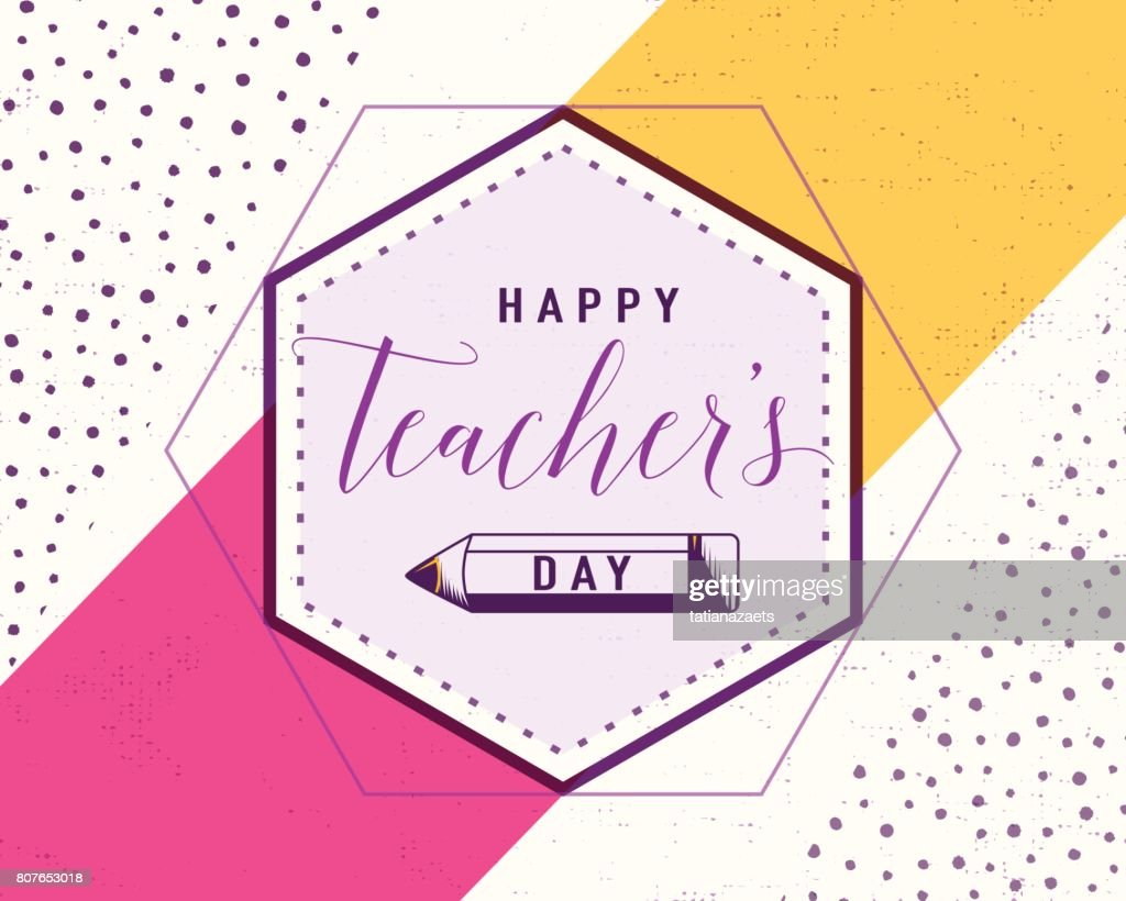 Vector Illustration Of Happy Teachers Day Greeting Design