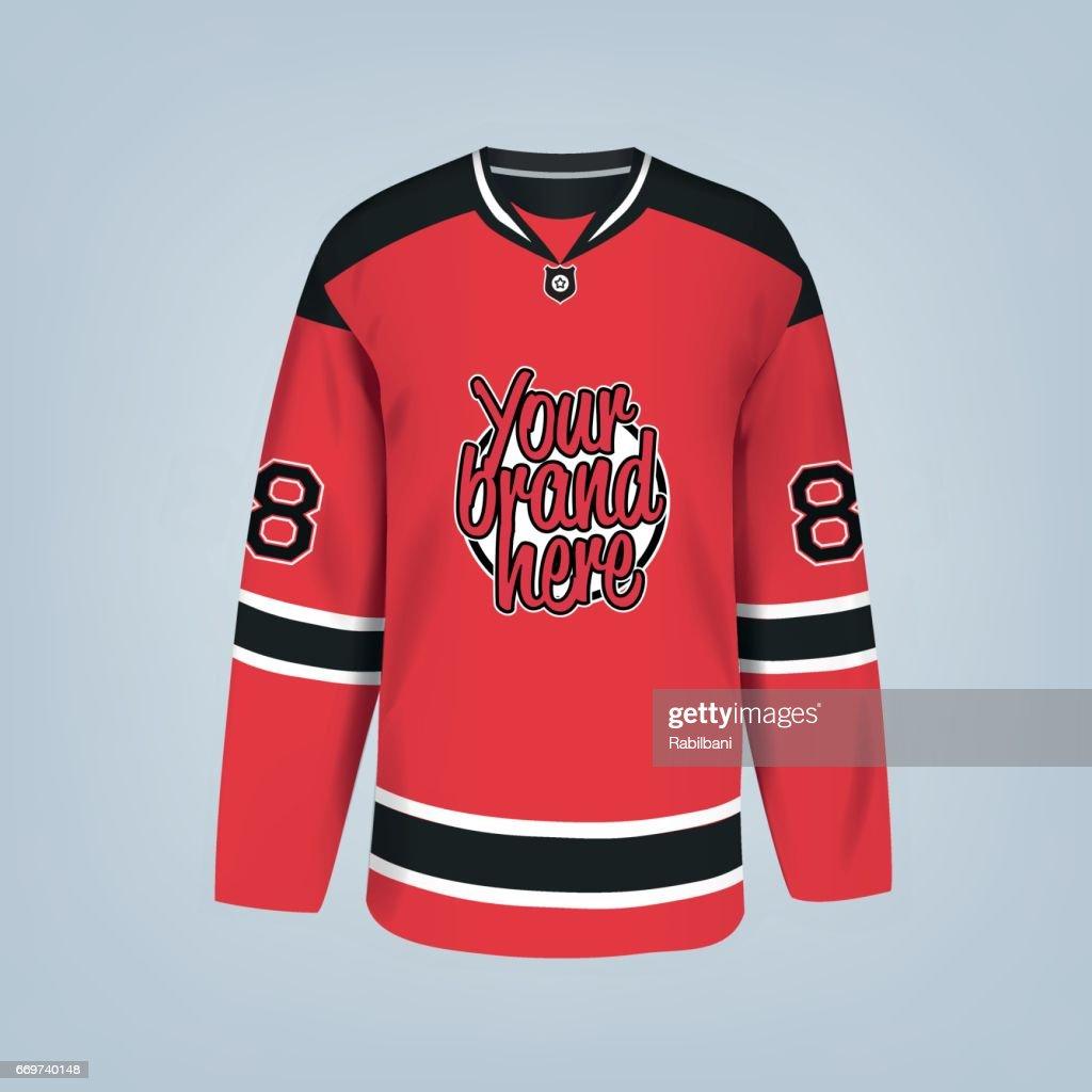 Vector illustration of hockey team jersey template